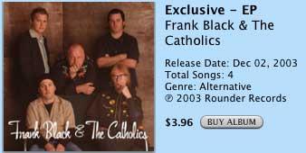 Frank Black & The Catholics Album
